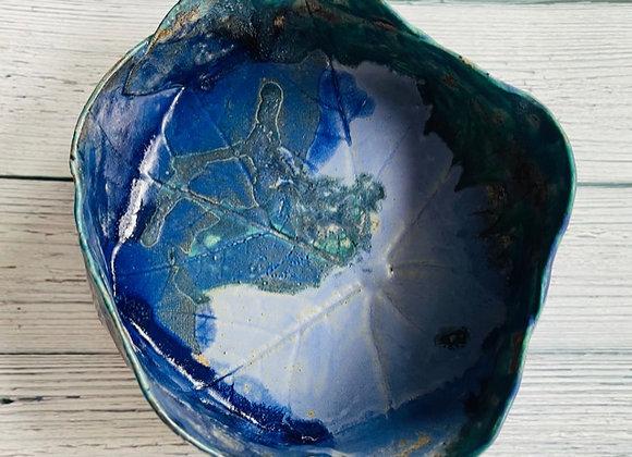 Handmade Blue Sea Green Ceramic Bowl