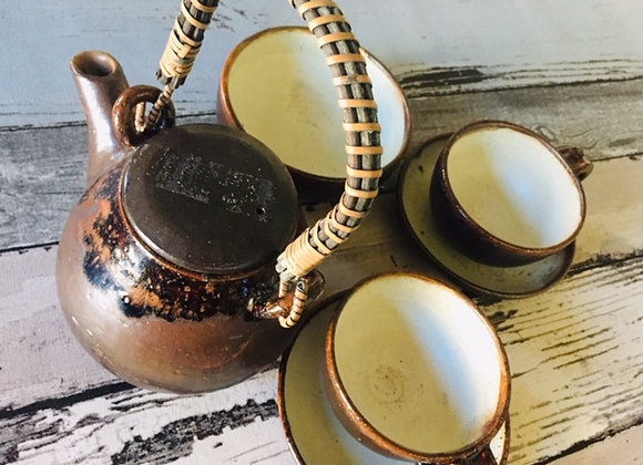 Handmade Ceramic Terra Soothe Tea Set
