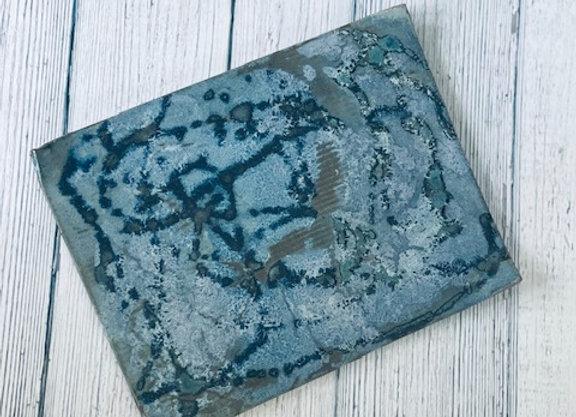 Handmade Blue Flat Appetizer/Sushi Plate