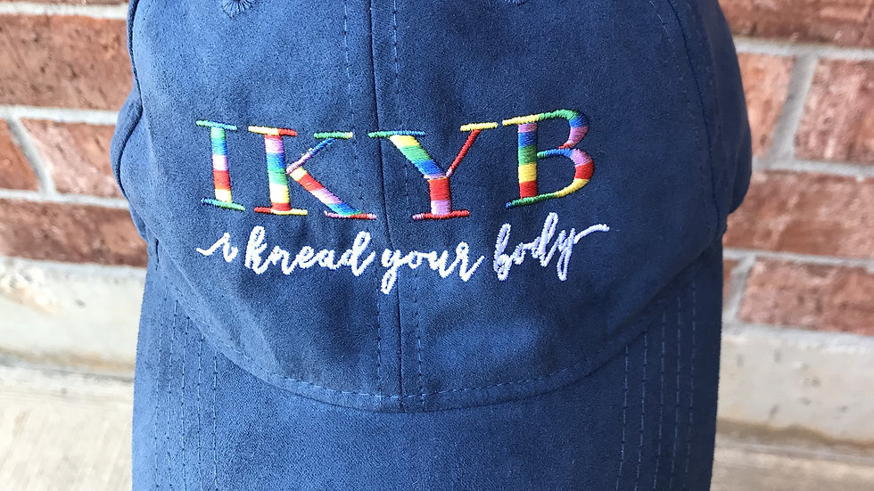 IKYB Suede Ball Cap - Blue