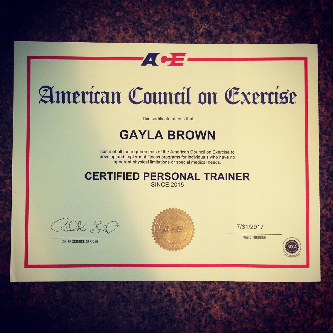 I Am Now An Ace Certified Personal Trainer Yup Ipassed I
