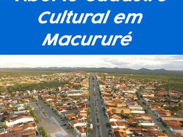 Artistas de Macururé: Prazo para inscrição no Cadastro Cultural termina hoje (05); Inscreva-se!!