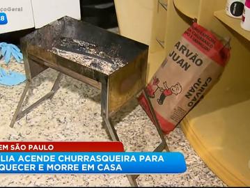 Casal e criança são encontrados mortos dentro de casa após se asfixiarem com fumaça de churrasqueira