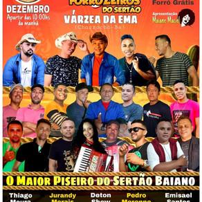 18 de Dezembro tem o 'Encontro dos Forrozeiros do Sertão', em Várzea da Ema-BA; Confira as atrações