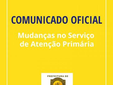 Secretaria Municipal de Saúde de Canudos anuncia mudanças no Serviço de Atenção Primária; Confira!