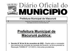 Nomeada equipe de transição do governo municipal de Macururé-BA