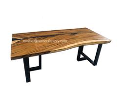 Wood table slab