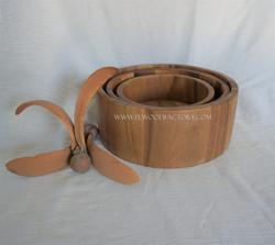 Acacia wood nesting bowl 3 sizes