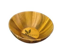 Acacia wood bowl