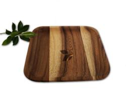 Acacia wood square tray