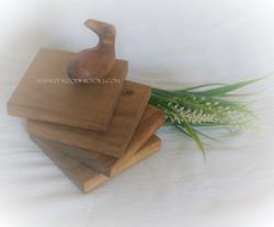Acacia wooden coaster