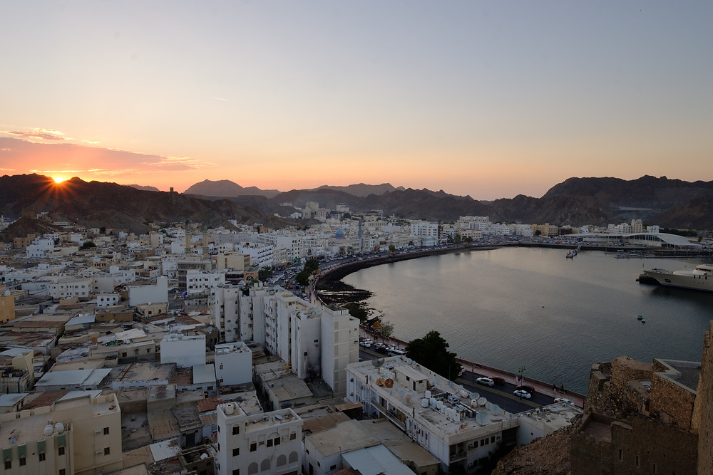 Muttrah, the old part of Muscat, Oman at sunset