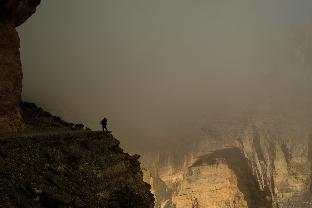 Balcony trail in Jebel Shams, Oman
