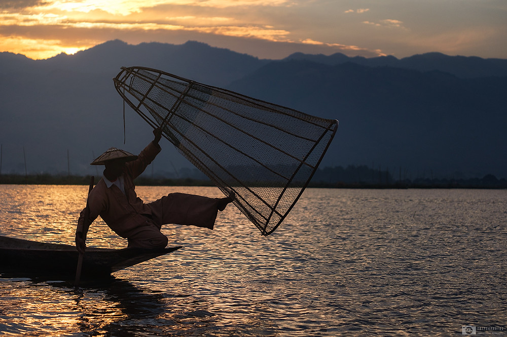 Fisherman on the lake Inle