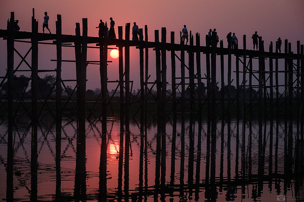U Bein bridge in Amarapura, Mandalay, Myanmar