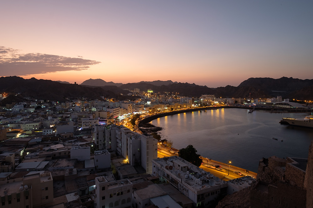 Muttrah, the old part of Muscat in the evening
