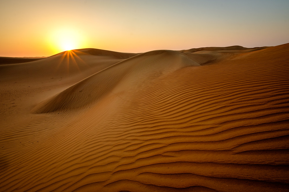 Wahiba sands at sunrise.