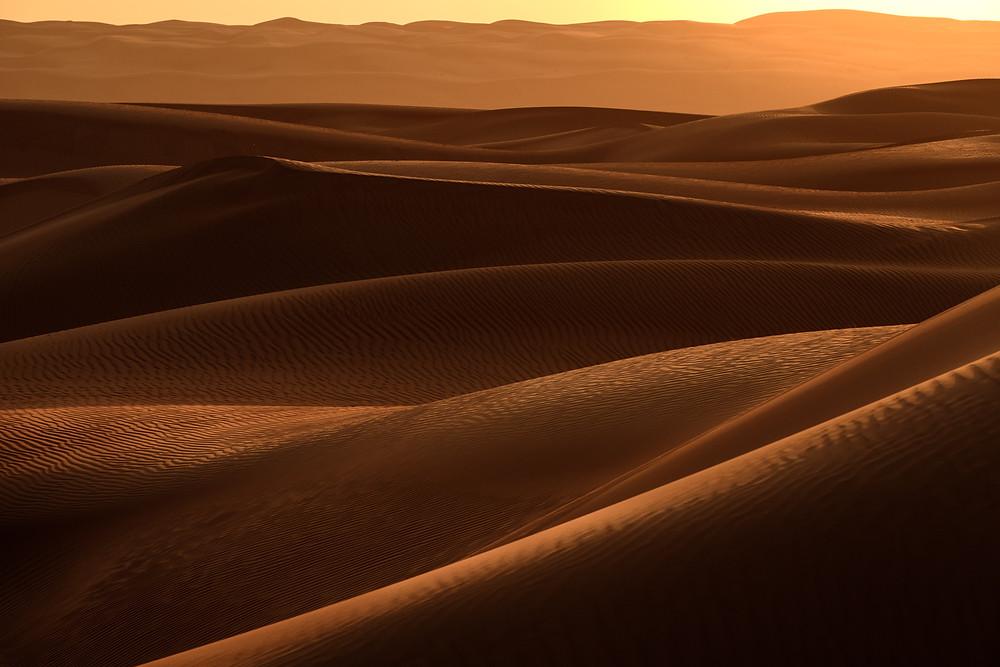 Sand desert in Wahiba, Oman