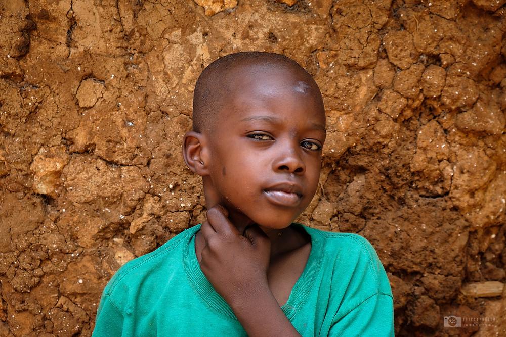 A kid in the village in the central Zanzibar
