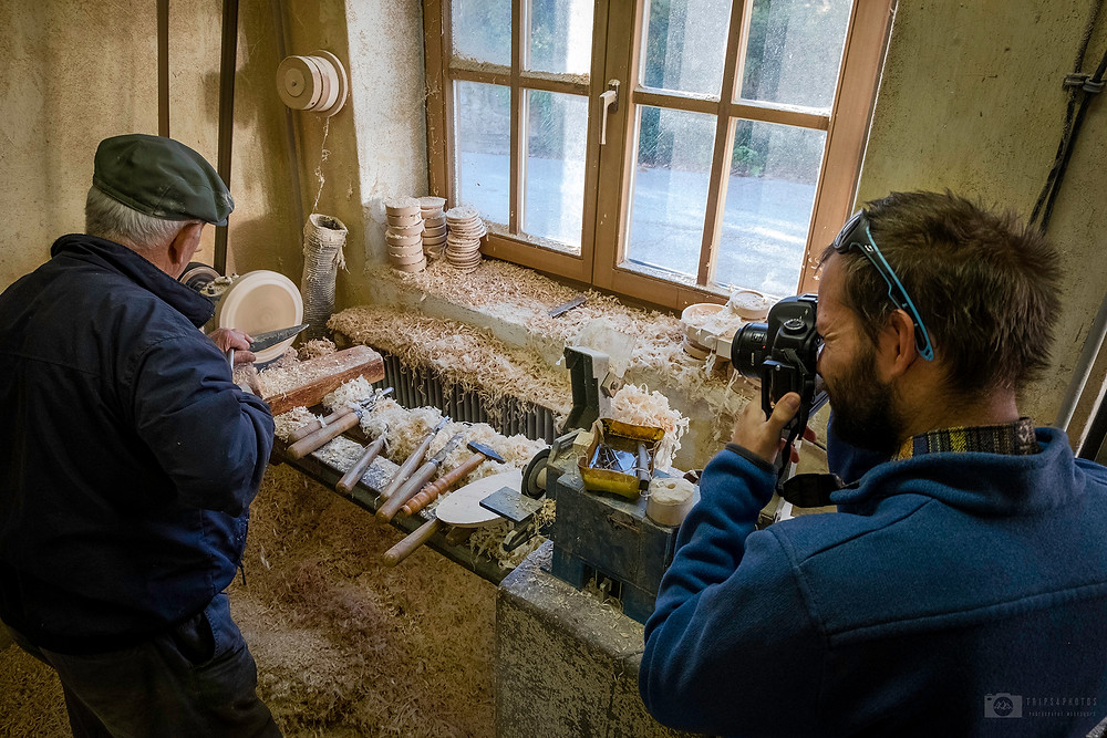 Nejc photographing for Slovenian edition of Nationa Geographic