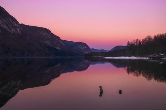 Bohinj Lake sunset