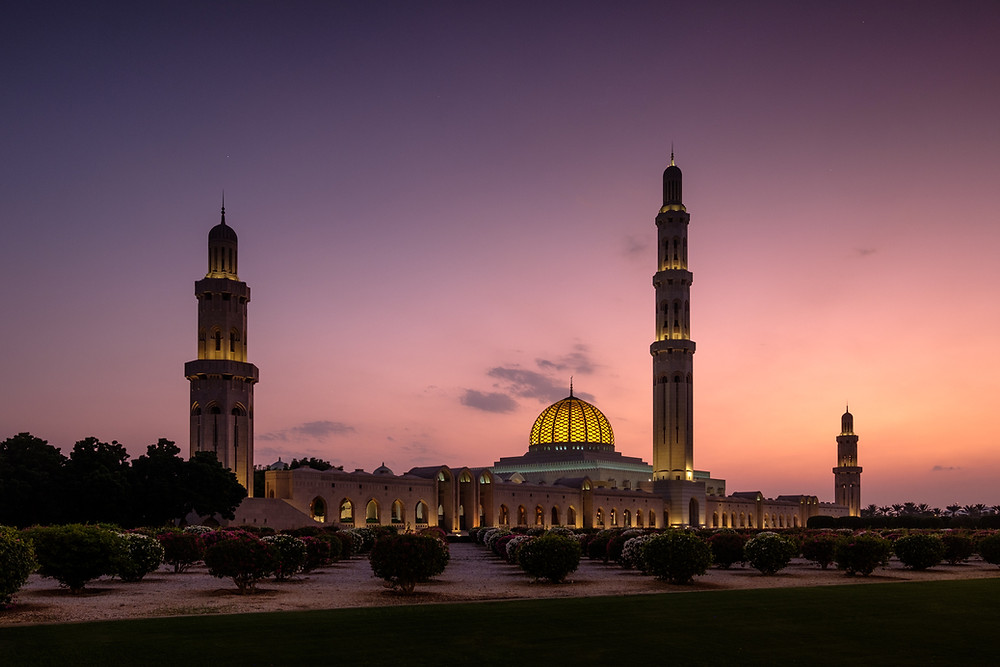 Sultan Qaboos mosque in Muscat