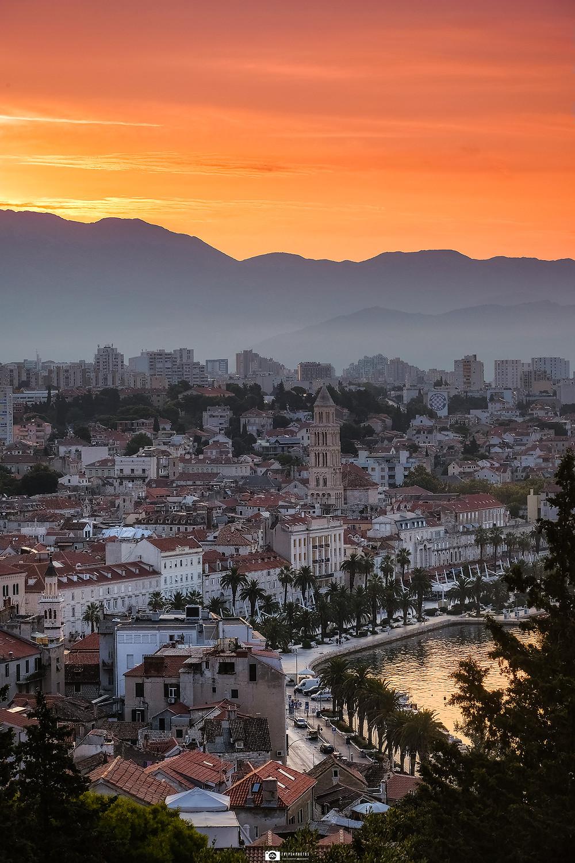 Sunrise in Split, Croatia