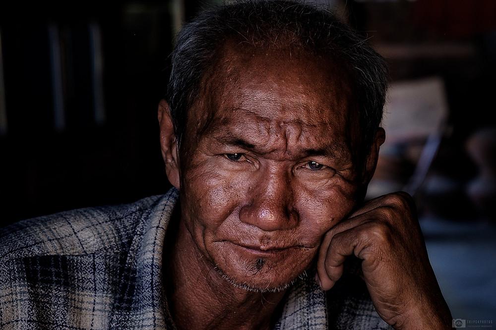 Portrait of a man from Yandabo, Myanmar