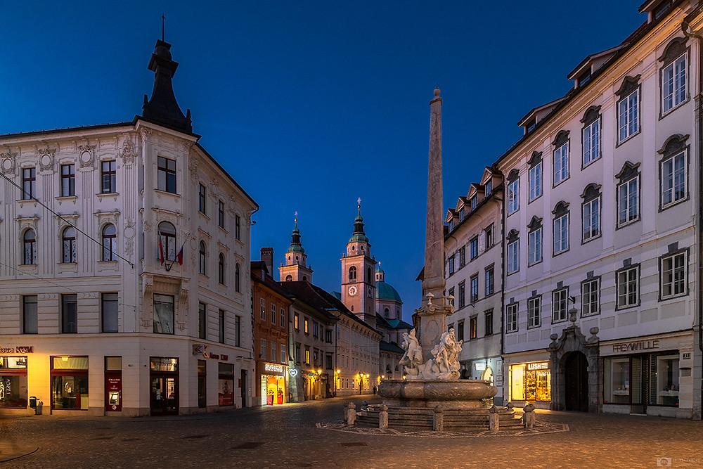 City square of Ljubljana