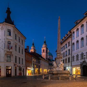 Ljubljana's empty streets