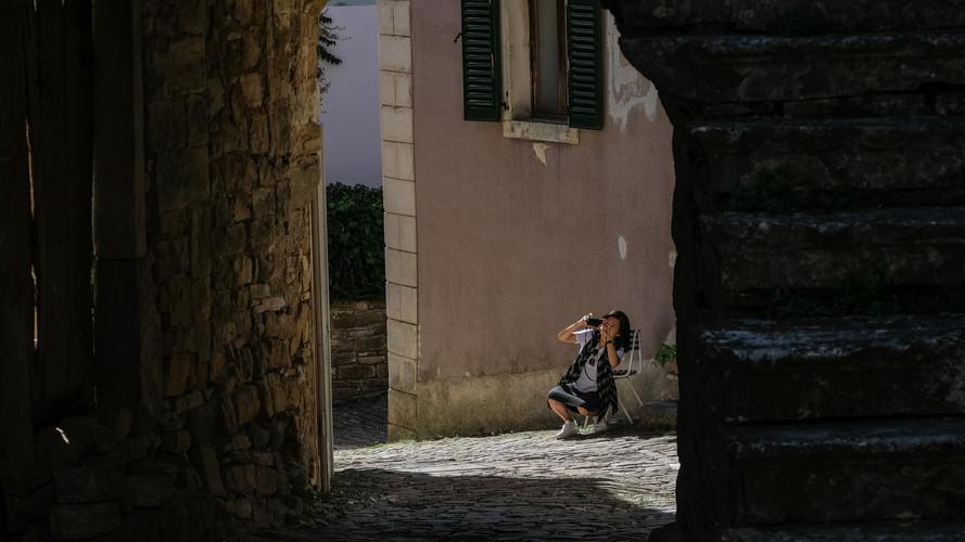 Clients in Istrian Village