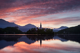 Bled Lake sunrise