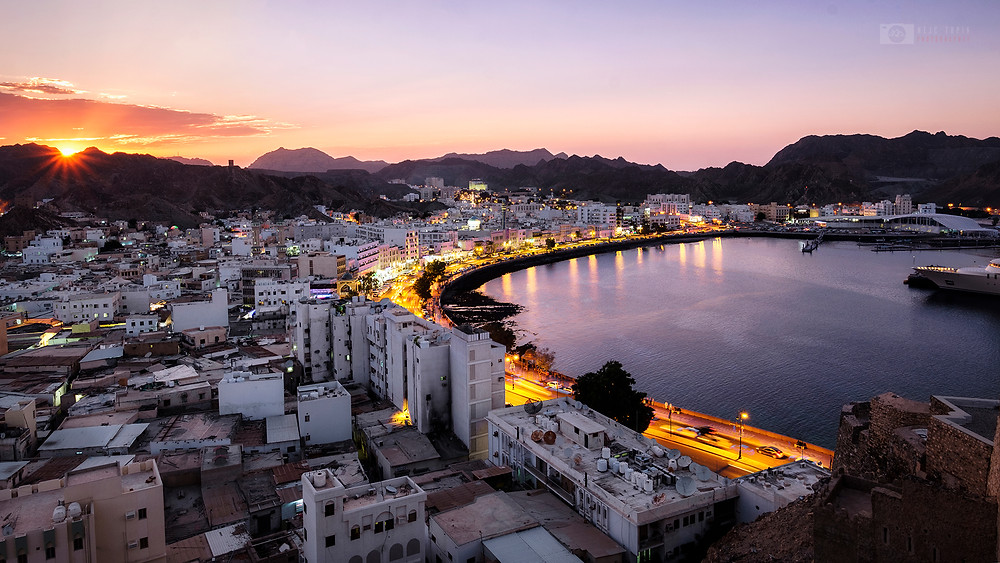 Sunset in Muscat, Oman
