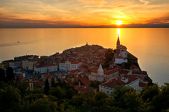Piran at sunset