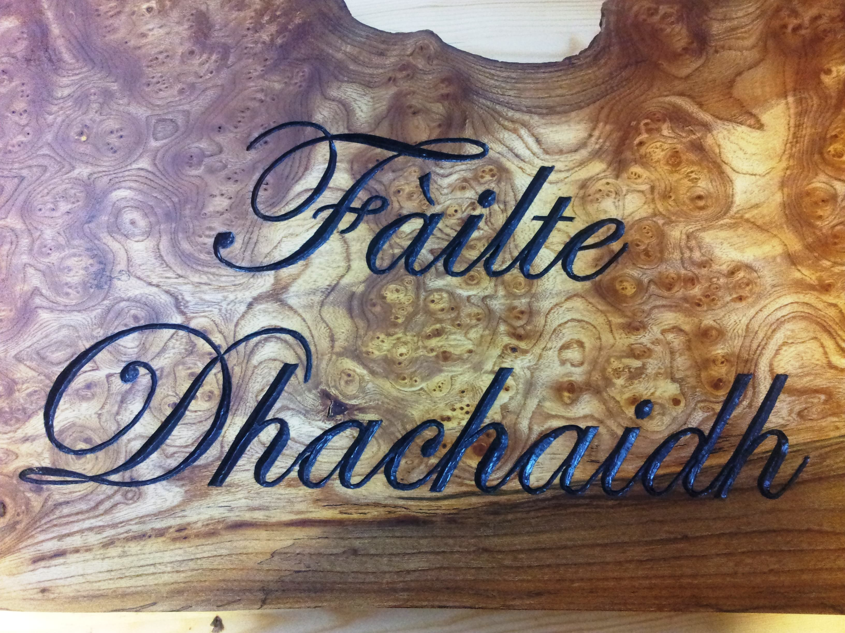 Gaelic Letter Carving