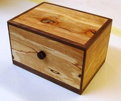 Spalted beech & Walnut Box