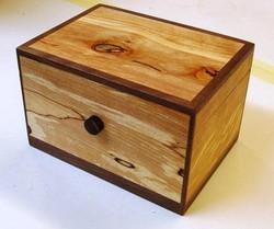 Spalted beech & Walnut Box