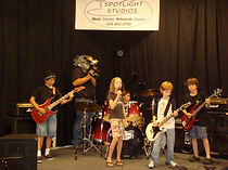 Kid Rockers From Jam Academy Music School rehearse for their big gig