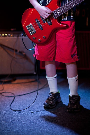 Bass Guitar Student With Awesome Socks!