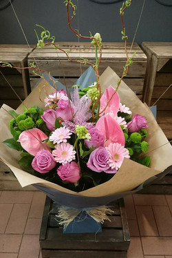 Pink lady hand tied
