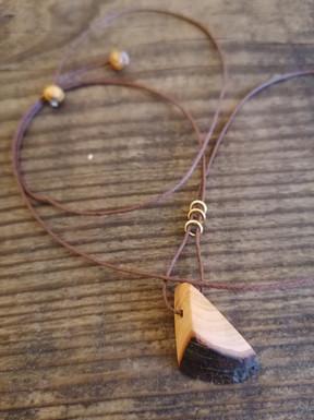 Cherry wood pendant