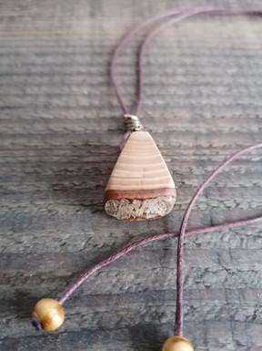 Light wooden slice pendant