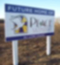 Peace future home sign.