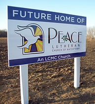 Peace future home sign.