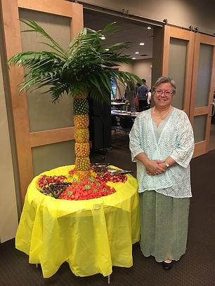 Easter Breakfast Pineapple Fruit Plate.j