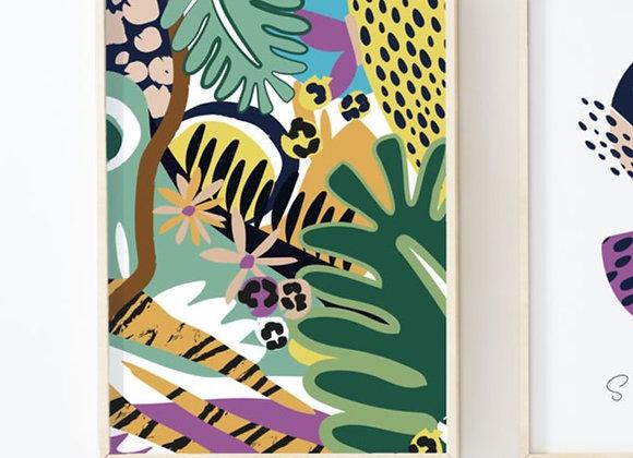 Neon Jungle full colour Print