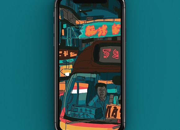 Hong Kong Streets Phone Screensaver