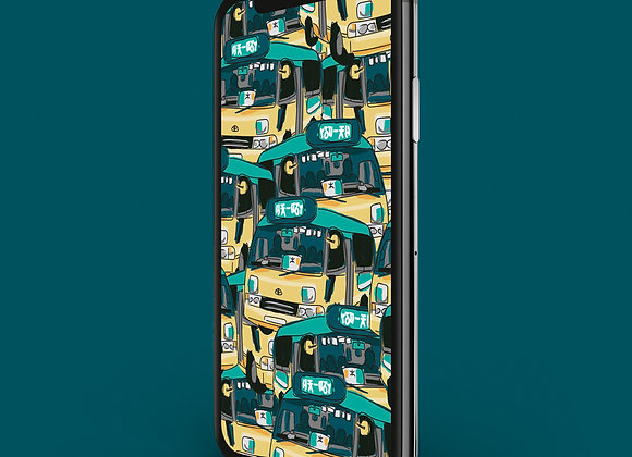 Hong Kong minibus Print - Phone Screensaver