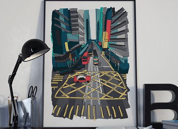 Hong Kong Crossroads Poster Print