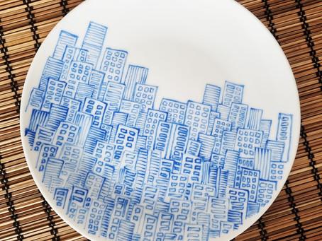 Concrete Jungle Ceramic Art